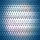 Colorful blue geometric background, abstract triangle pattern vector