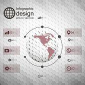 Infographic template for business design, hexagonal design vector illustration