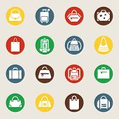 Bags and luggage icons