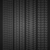 Wheel tire set