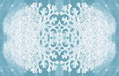 Winter texture with snowflake