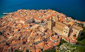 Cefalu Old Town From Bird's Eye View