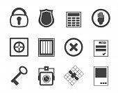 Silhouette Simple Security and Business icons