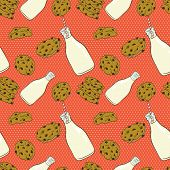 Milk And Cookies Pattern.