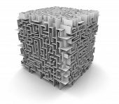 cube maze (clipping path included)