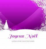 Joyeux noel against christmas themed snow flake frame