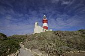 Lighthouse (Cape Agulhas 1848 In South Africa)
