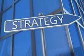 Strategy Arrow Sign