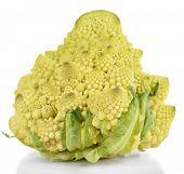 foto of romanesco  - Romanesco broccoli isolated on white - JPG