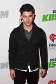 LOS ANGELES - DEC 5:  Nick Jonas at the KIIS FM's Jingle Ball 2014 at the Staples Center on December 5, 2014 in Los Angeles, CA