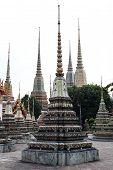 Thai pagoda on Wat Pho temple, Bangkok, Thailand