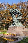 image of chopin  - Famous statue of Frederic Chopin - JPG