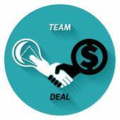 Best Deal. Team. Vector