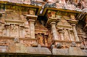 image of tamil  - detail of wall Great architecture ancient Gangaikonda Cholapuram Temple India Tamil Nadu Thanjavur  - JPG