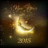 new year and  moon, easy all editable