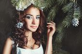 Portrait Of A Woman Among The Firs.