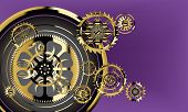 Broken Watch Cogs Background