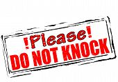 foto of flogging  - Rubber stamp with text please do not knock inside vector illustration - JPG