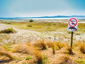 South Africa, crocodile warning and no fishing sign