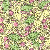 Hand Drawn Spring Seamless Pattern