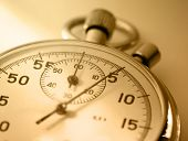 picture of stopwatch  - Single stopwatch isolated in closeup in sepia toning - JPG