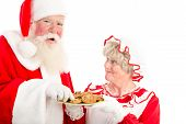 Santa Laughs And Takes Cookie