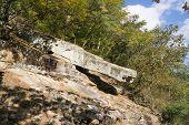 Huge Rock In A Mountain