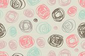 seamless pattern of circles in retro style