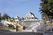 White Buddhist Temple  in Krabi, Thailand