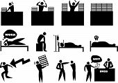 Work Stress Icon Man Set