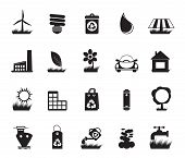 Silhouette Ecology and nature icons