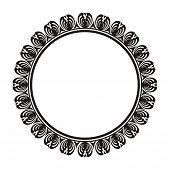 decorative round frame with ornament