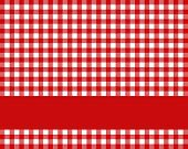 Tablecloth red white with stripe