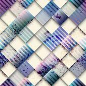 Grunge geometric pattern of squares.