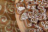 Christmas Cakes Close Up