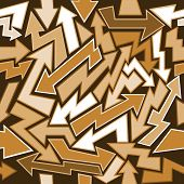 Graffiti Arrows Seamless Background