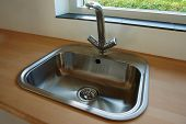 Details Of Modern Kitchen Sink With Tap Faucet