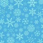 Blue Christmas  Snowflakes abstract background