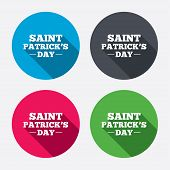 Saint Patrick sign icon. Holiday symbol.