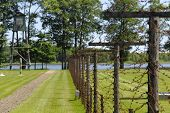Lake And Fence