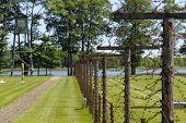 Lake And Fence