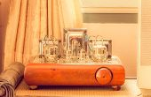 Vintage Valve Tube Amplifier From 1950, Filtered Process