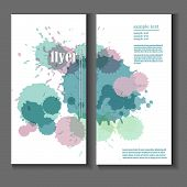 Flyer Template With Splashes And Spots Of Paint