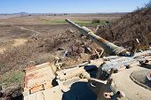 stock photo of golan-heights  - Old tank of the yom kippur war at  - JPG