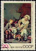 Greuze Stamp