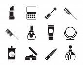 Silhouette beauty, cosmetic and make-up icons