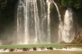 picture of waterfalls  - Ban Gioc Waterfall on the Quy Xuan River is located in Cao Bang Province - JPG