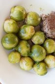 picture of brussels sprouts  - Tasty Brussels sprout and meat cutlet Dish - JPG