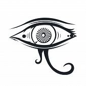 picture of freemason  - abstract eye theme vector graphic art illustration - JPG