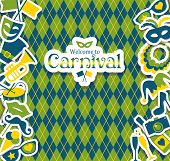 picture of brazil carnival  - Bright vector carnival icons and sign Welcome to Carnival - JPG